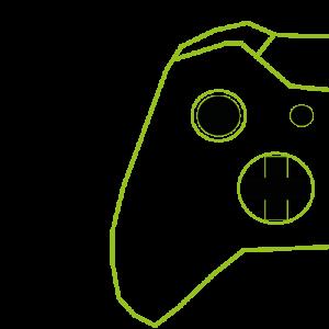 côté gauche illustré d'une manette Xbox One