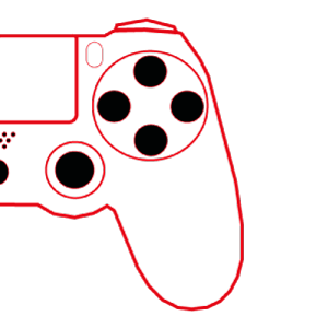 côté droit d'une manette PS4